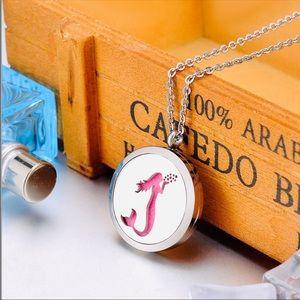 Jewelry - Mermaid Essential Oil Locket Pendant Necklace